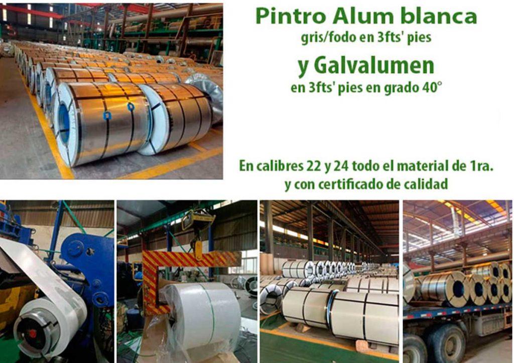 Venta de Pintro Alum y Galvalumen